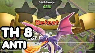 Clash of Clans BEST TH8 WAR BASE Anti DRAGON Trophy Base + Defense REPLAYS