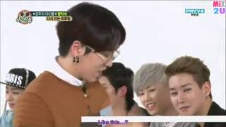 getlinkyoutube.com-BLOCK B trying to compliment eachother/engage skinship (eng. subbed)