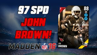 getlinkyoutube.com-97 Speed John Brown! | Madden 16 Ultimate Team - Schefter Star Pack Opening