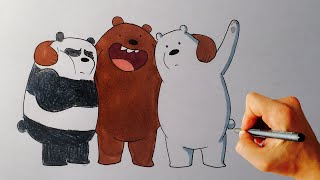 getlinkyoutube.com-How to Draw Grizzly, Panda and Ice Bear from We Bare Bears - Cartoon Network - Drawing tutorial