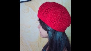 getlinkyoutube.com-gorro boina tejida en crochet o ganchillo
