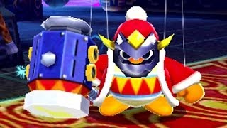 getlinkyoutube.com-Kirby: Triple Deluxe 3DS - Lv6 Royal Road Masked Dedede & Masked Dedede's Revenge Boss Battle [HD]