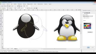 getlinkyoutube.com-Como hacer un tux en Corel Draw X3 part 1