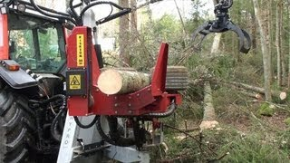 getlinkyoutube.com-HYPRO 755 Traktorprocessor / Tractor processor / Traktorprozessor