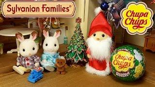getlinkyoutube.com-Наряжаем ёлочку игрушками из Новогодней Коллекции Чупа Чупс + мультик с игрушками Sylvanian Families