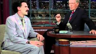 David Leterman interviews Borat on The Late Night Show