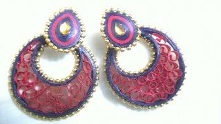 getlinkyoutube.com-quilling earrings new designs making - quilling earrings