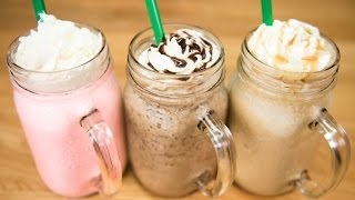 getlinkyoutube.com-Make a Starbucks Frappuccino / Cotton Candy Frappuccino, Java Chip Frappuccino & Caramel Frappuccino