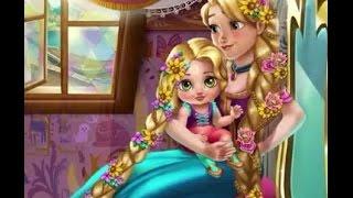 getlinkyoutube.com-Juegos de Princesas: El día de Rapunzel, vestir, peinar, moda, cuidar bebe