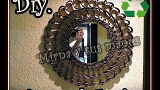 getlinkyoutube.com-Decorando un espejo con Tubos de Papel Higienico.Decorating a mirror with toilet paper tubes