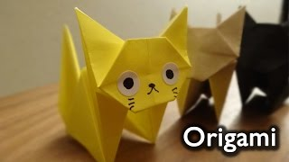 getlinkyoutube.com-Origami Cat(neko)  / 折り紙 ねこ 折り方