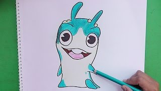 getlinkyoutube.com-Dibujando y coloreando a Diggrix (Bajoterra) - Drawing and coloring Diggrix