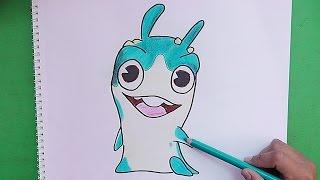 Dibujando y coloreando a Diggrix (Bajoterra) - Drawing and coloring Diggrix