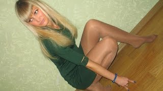 getlinkyoutube.com-Cute Girls in Tights Nylons Pantyhose & Shoeless Feet #4