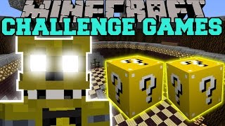 getlinkyoutube.com-Minecraft: GOLDEN FREDDY CHALLENGE GAMES - Lucky Block Mod - Modded Mini-Game