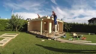 Gartenhaus selber bauen (Montage). Selbstmontage eines Gartenhauses.