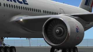 getlinkyoutube.com-Air France B777-200LR St Maarten(TNCM) Departure X-Plane 10
