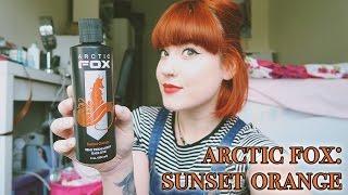 getlinkyoutube.com-Dying My Hair With Arctic Fox Sunset Orange - Cruelty Free