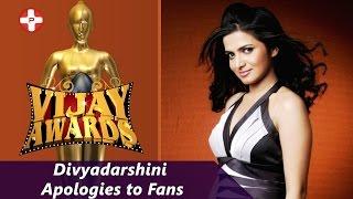 getlinkyoutube.com-Divyadarshini apologies to fans | Vijay Awards 2015 | DD | Vijay Tv | Latest Cinema News