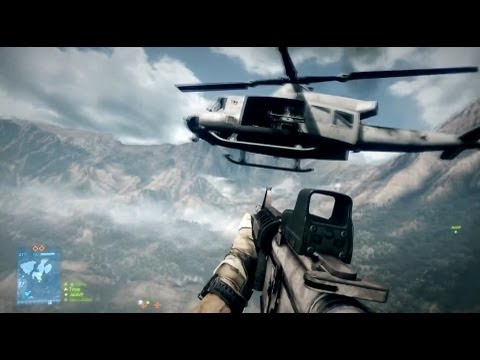 Battlefield 3: Base Jump Into Falling Helicopter