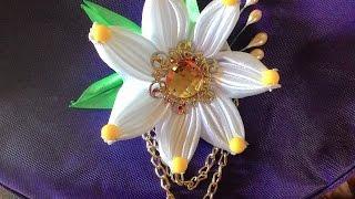 getlinkyoutube.com-DIY Tutorial - membuat bunga untuk bros dari pita satin