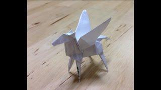 """getlinkyoutube.com-ペガサス 立体 折り紙 折り方 作り方 立体 """"origami"""" How to make an Pegasus"""