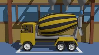 Factory Cement Mixer   Truck Concrete Mixer   Betoniarka Animacje Dla Dzieci 2017