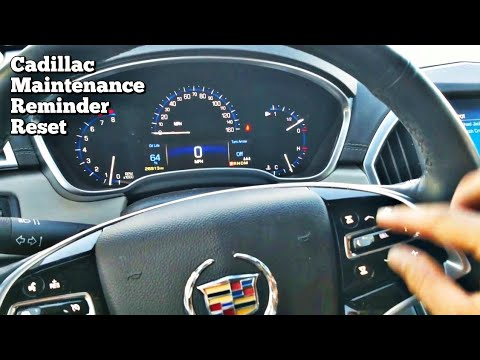 Cadillac SRX Oil Life Reminder Reset Procedure How to