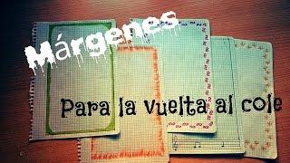 getlinkyoutube.com-Márgenes para cuadernos/ Vuelta al cole #1 ( Muy fáciles y bonitos) - Anahi blue