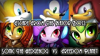 Escape From The Major Boss - Sonic vs Freedom Planet