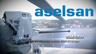 getlinkyoutube.com-ASELSAN | SMASH 30MM Remote Controlled Stabilized Naval Gun System
