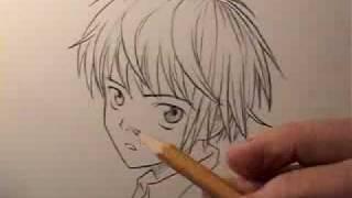 getlinkyoutube.com-How To Draw Manga Hair: Boys