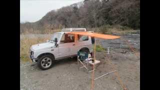 ジムニー旧型 カーサイドタープ ソロキャンプ用 ♫