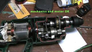 getlinkyoutube.com-Bosch Hammer PBH 160R checking motor and interior mechanics after failure