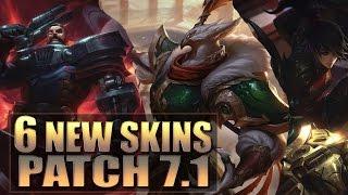 getlinkyoutube.com-6 ALL NEW SKINS Patch 7.1 - League of Legends (Warring Kingdoms, Heartseeker, Dreadnova)