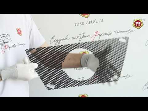 Защитная сетка решетки радиатора Nissan Pathfinder (russ-artel.ru)
