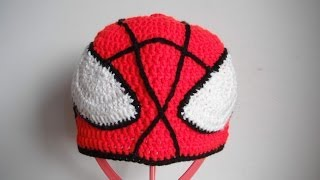 getlinkyoutube.com-how to crochet spider man hat all sizes by marifu6a free pattern tutorial