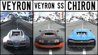 EPIC DRIFT BATTLE - Chiron vs Super Sport vs Veyron - Forza Motorsport 7