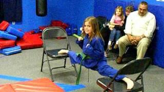 alyssa doing her split at karate!!!!