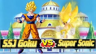 getlinkyoutube.com-Mugen Battles | Super Saiyan Goku vs Super Sonic | Dragon Ball Z vs Sonic