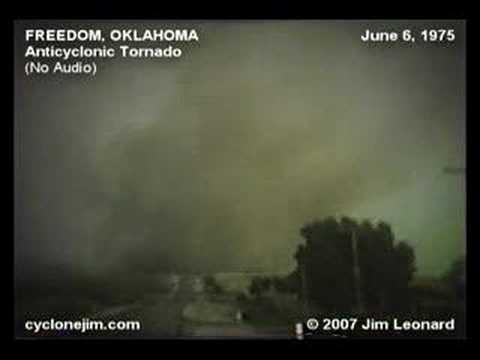Freedom, Oklahoma Anticyclonic Tornado - June 6, 1975