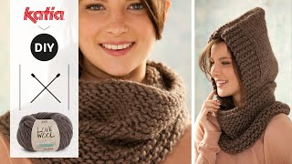 getlinkyoutube.com-Love Wool DIY: Cuello capucha · Neck warmer & hood