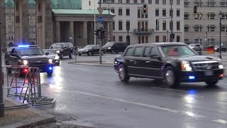 US President Barack Obama Convoy Berlin 17.11.2016