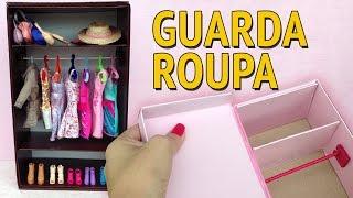 getlinkyoutube.com-Guarda Roupa e Closet para Barbie feito com Caixa de Sapato! Como fazer!