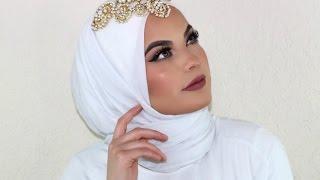 getlinkyoutube.com-Wedding Hijab Tutorial