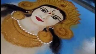 Rangoli Navratri Special Durga Rangoli