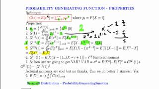 Probability Generating Function #1 properties