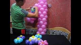 getlinkyoutube.com-Единичка из воздушных шаров. (Unit of balloons)