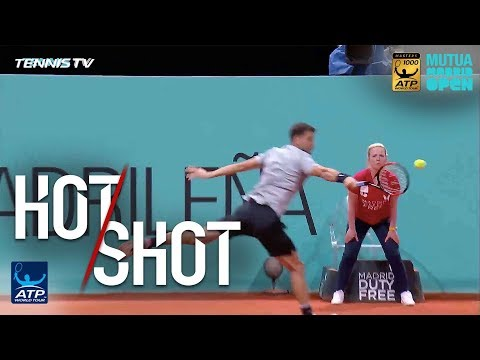 Hot Shot: Dimitrov Lands Backhand Winner Against Raonic In Madrid 2018
