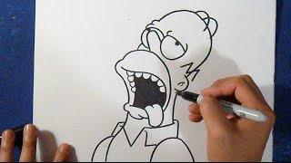 getlinkyoutube.com-Cómo dibujar a Homero J. Simpson 2 | How to draw Homer The Simpsons